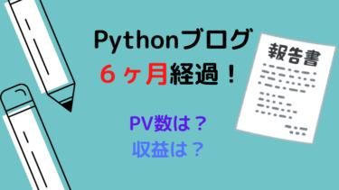 【運営報告】Pythonブログ半年間のPV数、収益は?