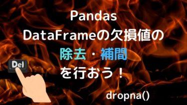 【Python】PandasのDataFrameの欠損値の除去・補間を行おう!