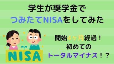 【NISA】学生がつみたてNISAを始めて4ヶ月経過!まさかのトータルマイナス!?