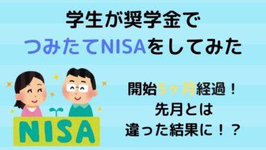 【NISA】学生がつみたてNISAを始めて5ヶ月経過!先月とは大違いの結果に!?