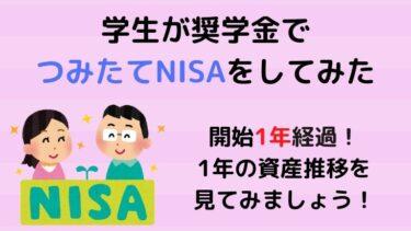 【NISA】学生がつみたてNISAを始めて1年が経過!1年の資産推移を見てみよう!